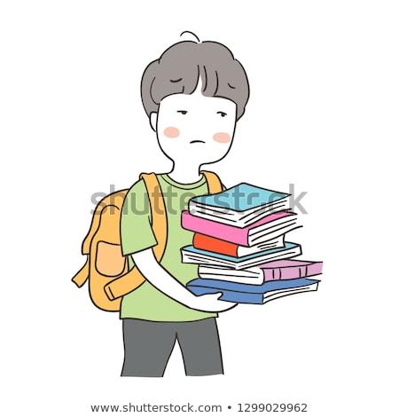 infelice · scolaro · studiare · classe · bambino · studente - foto d'archivio © vladacanon