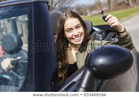 teen with first new car stock photo © lisafx