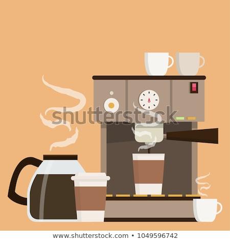 Koffie automatisch machine beker poster vector Stockfoto © pikepicture