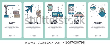 Marine Port Transport Onboarding Elements Icons Set Vector Stock photo © pikepicture