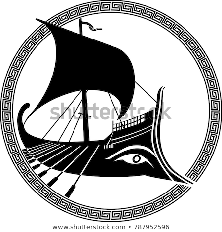 古代 ギリシャ語 船 神話 ストックフォト © ensiferrum