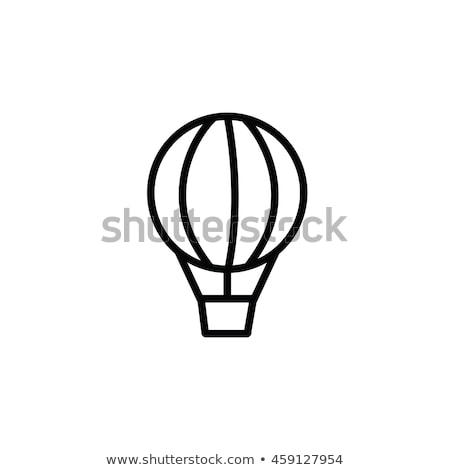 поездку воздушный шар икона вектора иллюстрация Сток-фото © pikepicture