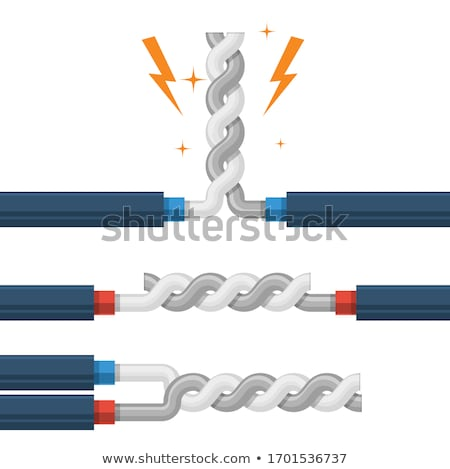 Types of wires twisting, shorting of high-voltage cable shunt fa Stock photo © gomixer