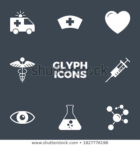 Medical Cross related vector glyph icon. Stock photo © smoki