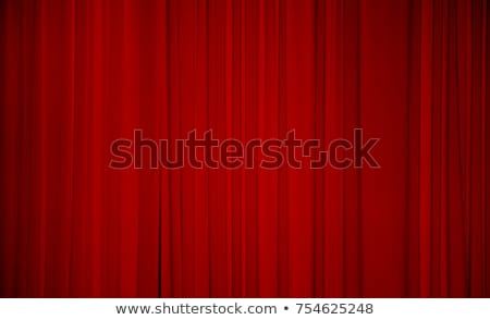 Heldere Rood gordijn theater breed retro Stockfoto © evgeny89