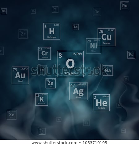 White White chemical periodic table of elements on abstract purple blurred hi-tech background on pur Stock photo © evgeny89