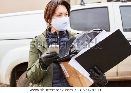 online shopping logistic telephone check list Stock photo © yupiramos