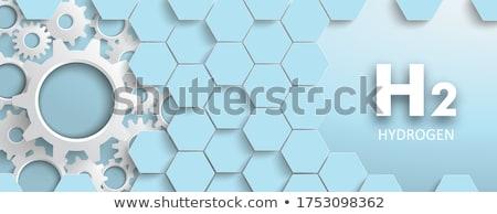 水素 青 六角形 構造 カバー 白 ストックフォト © limbi007
