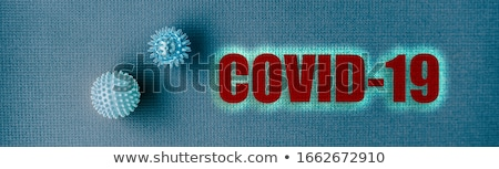 Coronavirus COVID-19 Text header for corona virus prevention guidelines background banner with face  Stock photo © Maridav