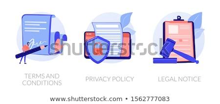 Juridische diensten vector metafoor expert recht Stockfoto © RAStudio
