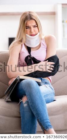 Ranny kobieta student egzaminy książki domu Zdjęcia stock © Elnur