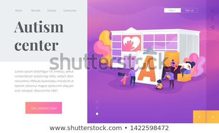 Autism therapy concept landing page Stock photo © RAStudio