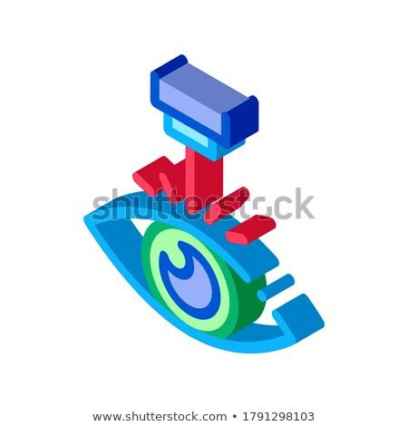 Olho laser correção dispositivo isométrica ícone Foto stock © pikepicture