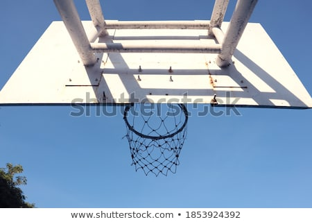 basketball stands under blue sky stock photo © ansonstock