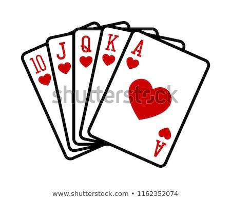 Real rojo diamantes aislado mano póquer Foto stock © posterize