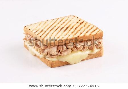 tonhal · sajt · szendvics · saláta · hal · friss - stock fotó © keko64