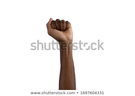 woman success with clenched fists stock photo © ilolab