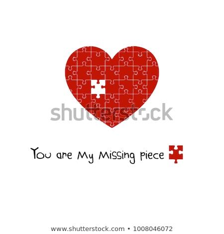 Roto mi corazón palabras pieza escrito Foto stock © anyunoff