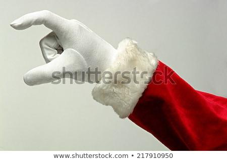 Дед Мороз руки настоящее красный Рождества счастливым Сток-фото © alexandre17