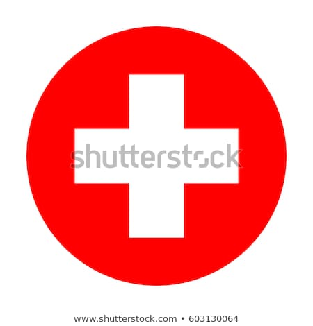 Rode kruis vector hartslag oppervlak Stockfoto © Lizard