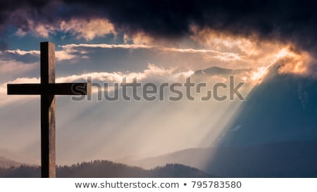 landscape and cross Stock photo © mariephoto