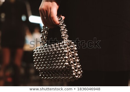 gorgeous girl with beads Stock photo © zastavkin