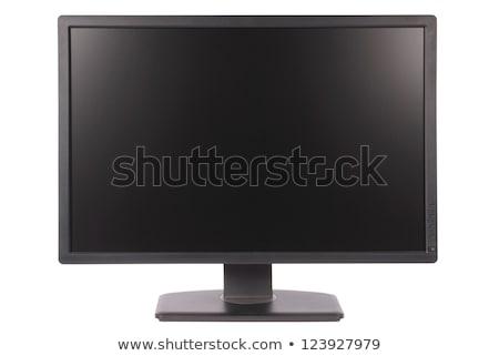 Tft monitor isolado moderno branco escritório Foto stock © ozaiachin