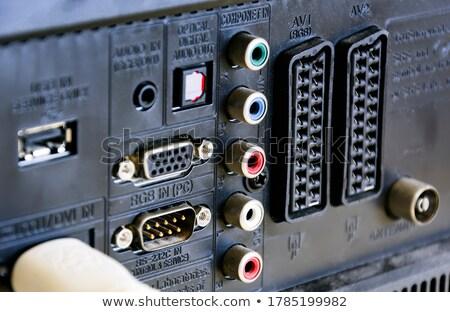 Audio hozam fekete számítógép hálózat kábel Stock fotó © restyler