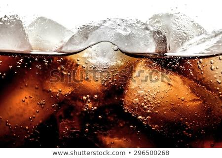Kola buz cam dilim limon Stok fotoğraf © bugstomper