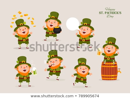 Stock photo: cute leprechaun illustration