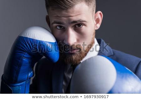 człowiek · biznesu · walki · dynamiczny · widoku · agresywny · gotowy - zdjęcia stock © smithore