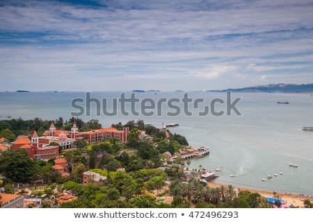 Xiamen aerial view from Gulang-yu island, China stock photo © kawing921