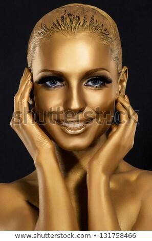 Woman Laughing At Body Art Zdjęcia stock © Gromovataya