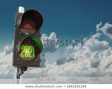 Traffic lights on sky background Stock photo © leonido