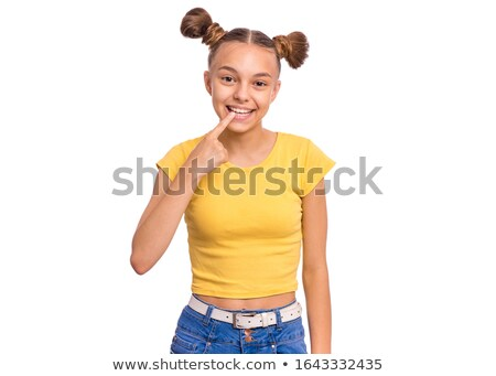 Säugling · Zähne · junge · Mädchen · Porträt - stock foto © photography33