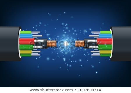 abstract optical fibre wire background Stock photo © pathakdesigner