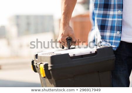 Artigiano cassetta degli attrezzi sorriso uomo costruzione Foto d'archivio © photography33