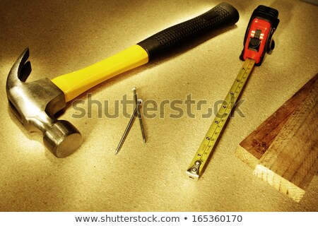 Measure. Tool on wooden floor Stock photo © simpson33