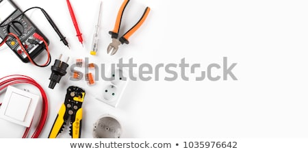 Electrician with Tools Stock photo © lisafx
