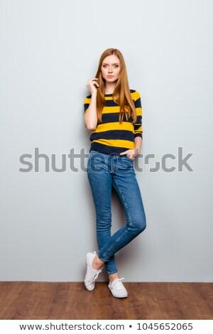 Glamour caber vertical belo maduro loiro Foto stock © lisafx