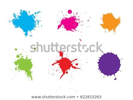 vettore · trasparente · set · inchiostro · abstract · vernice - foto d'archivio © fixer00