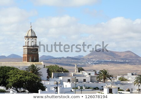 Lanzarote Teguise white and cross in Canaries Stock photo © lunamarina