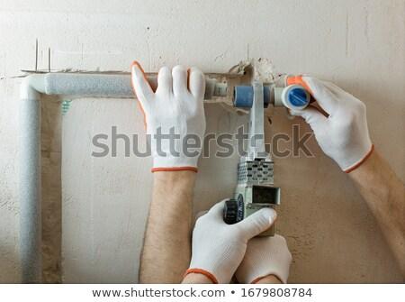 parede · branco · casa · grama · construção · fundo - foto stock © lisafx