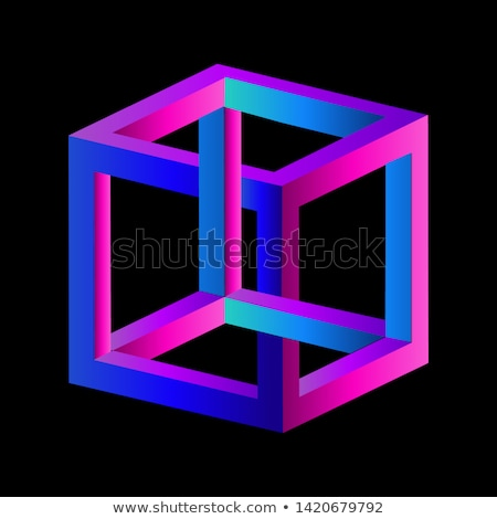 金属 · アナーキー · シンボル · ガラス · キューブ · 3D - ストックフォト © samsem