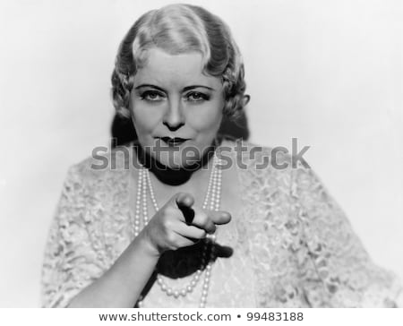 Stern woman pointing finger Stock photo © photography33