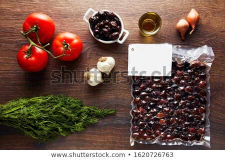 Olives in a vacuum pack Stock photo © Givaga
