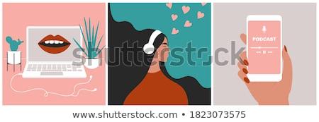 Foto stock: Música · femenino · mujer · pelo · belleza · disco