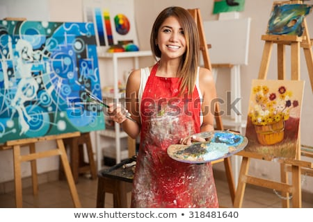 young female painter Stock photo © photography33