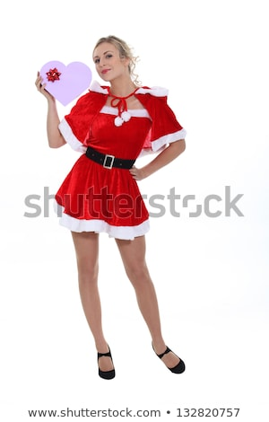 Saucy Miss Santa with gifts Stock photo © photography33