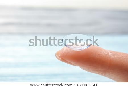 女性 ホールド コンタクトレンズ 指 若い女性 ストックフォト © imarin